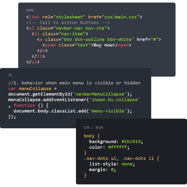 Clean and well structured HTML codes