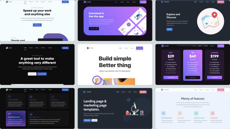 Cutekit Pages – Beautiful landing pages
